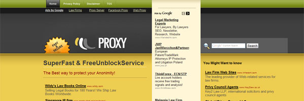 Preview - Private Glype Proxy Theme