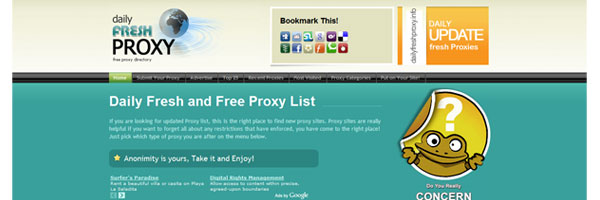 Preview - Proxy List Directory Template
